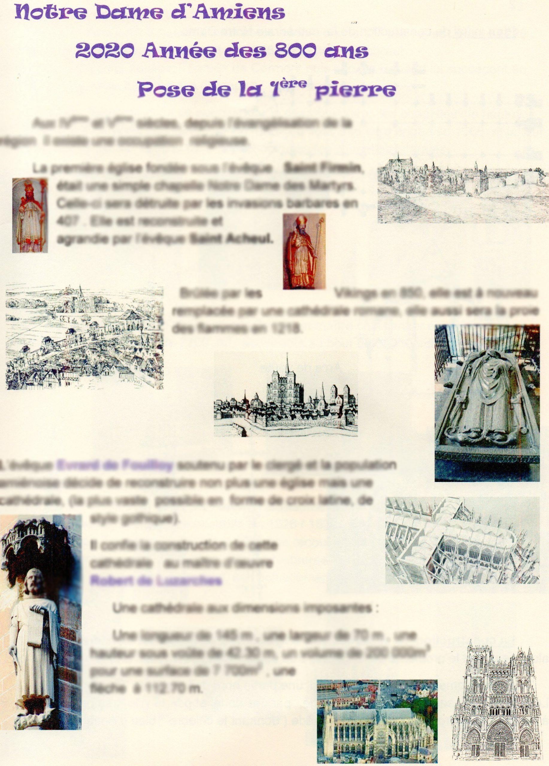 """Plaquette N°443 - """"800 Ans De La Cathédrale Notre Dame D'Amiens"""""""
